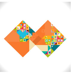 abstract square with colorful and creative vector image