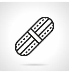 Adhesive plaster black line icon vector
