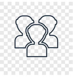 audience concept linear icon isolated on vector image