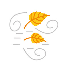 autumn leaves wind season nature concept vector image
