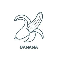 banana line icon banana outline sign vector image