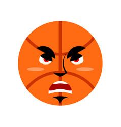 Basketball angry emoji ball grumpy emotion vector