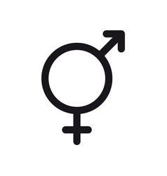 bigender symbol gender and bi sexual orientation vector image