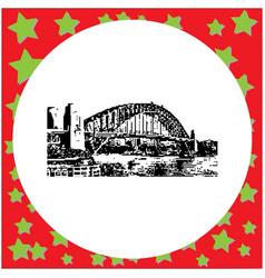 black 8-bit sydney harbor bridge vector image