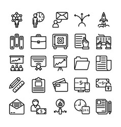 business and office line icons 12 vector image