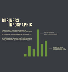 business graph concept infographic design vector image
