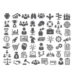 Business icons setmanagement finance marketing vector