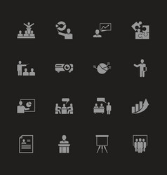 Business presentation - flat icons vector