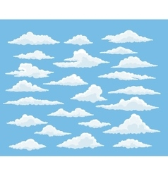 Cartoon cloud set vector