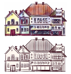 City houses vector