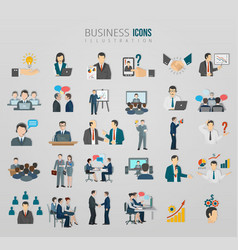 communication business team icon set vector image