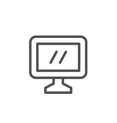 computer monitor line icon vector image
