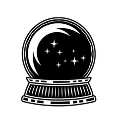 crystal ball witch black vector image