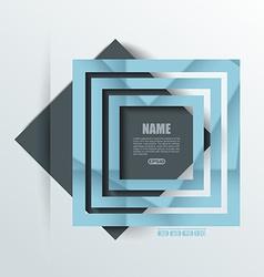 Design - blue and black Rhombus Background vector image