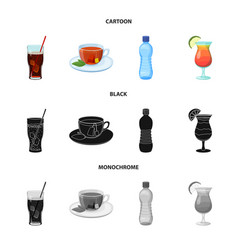 Design drink and bar symbol set of vector
