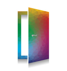 door sign colorful icon with vector image