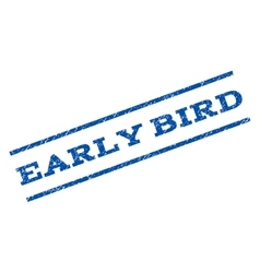 Early bird watermark stamp vector