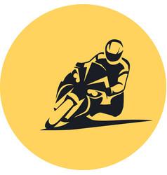 Extreme sportbike rider vector