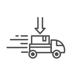 fast truck cardboard box cargo shipping related vector image
