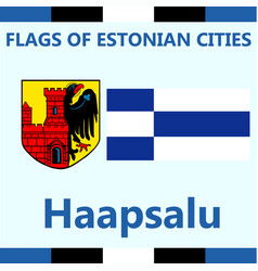 Flag of estonian city haapsalu vector