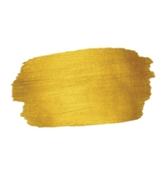 Gold Texture Brush stroke design element vector