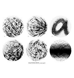 halftone spots set vector image