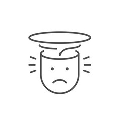 headache or head pain line outline icon vector image