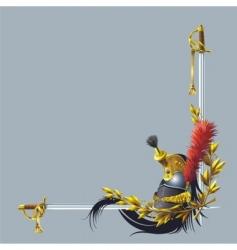 Helmet and swords vector
