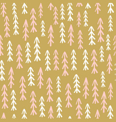 holiday seamless pattern with ink drawn christmas vector image