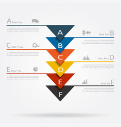 Infographic template with elements and icons vector