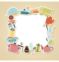 Kitchen utensils appliances and cookware vector