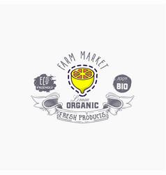 lemon word on background fruit web vector image