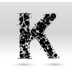 Letter k formed inkblots vector