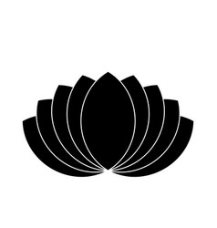 lotus plant symbol spa and wellness theme design vector image