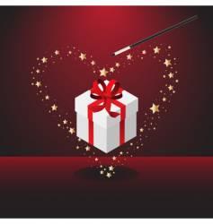 magic Valentine's wand vector image