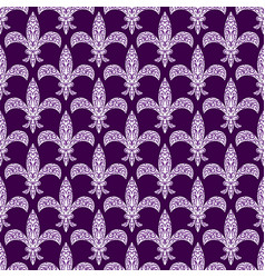 mardi gras fleur de lys decorated seamless vector image