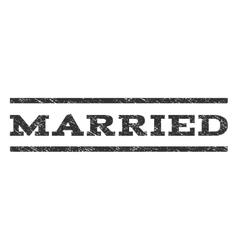 Married Watermark Stamp vector