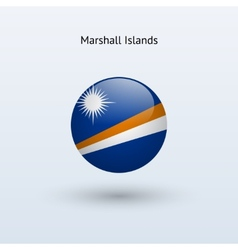 Marshall Islands round flag vector image