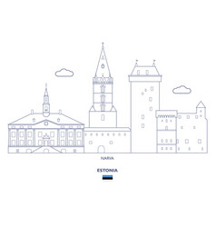 Narva city skyline vector
