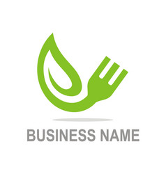 organic food vegetarian business logo vector image