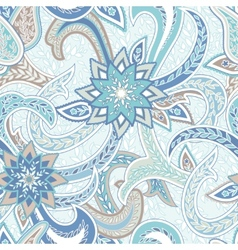 Paisley Colorful Seamless Background vector image