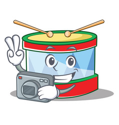 photography toy drum character cartoon vector image