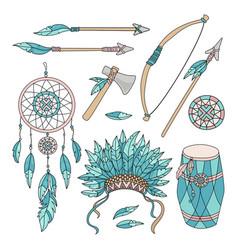 Pocahontas goods american indians vector