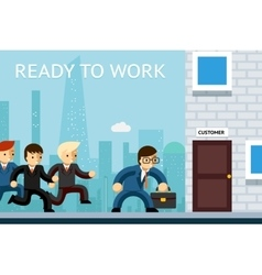 Ready to work business managers waiting vector