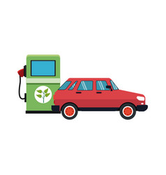Red car icon vector