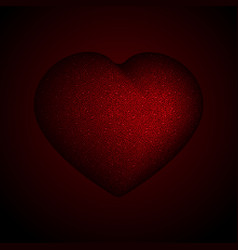 red sequins sparkle glitter heart romantic style vector image