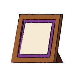 Retro frame photo gallery decoration icon vector