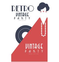 retro vintage party logo design element for vector image