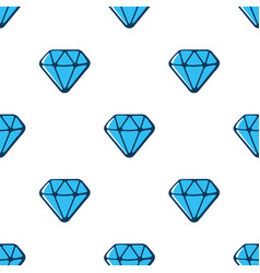 seamless pattern with blue diamonds vector image