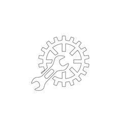 Service tool flat icon vector